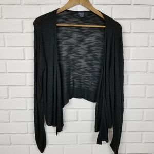 Faded Glory Long Sleeve Black Open Cardigan Large